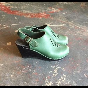 No. 6 olive green clogs